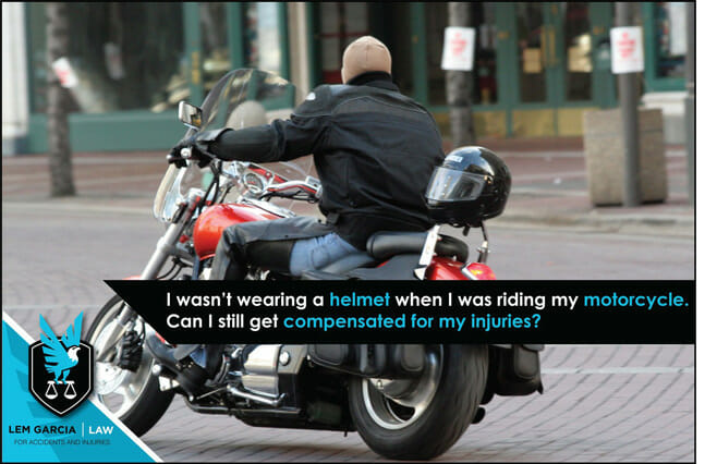 i-wasnt-wearing-a-helmet-when-i-was-riding-my-motorcycle-can-i-stll-get-comp-for-injuries