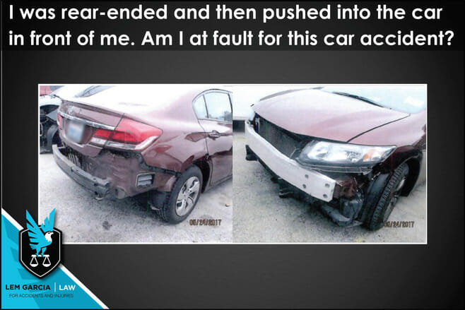 rear-ended-and-pushed-into-car-in-front-of-me-am-i-at-fault