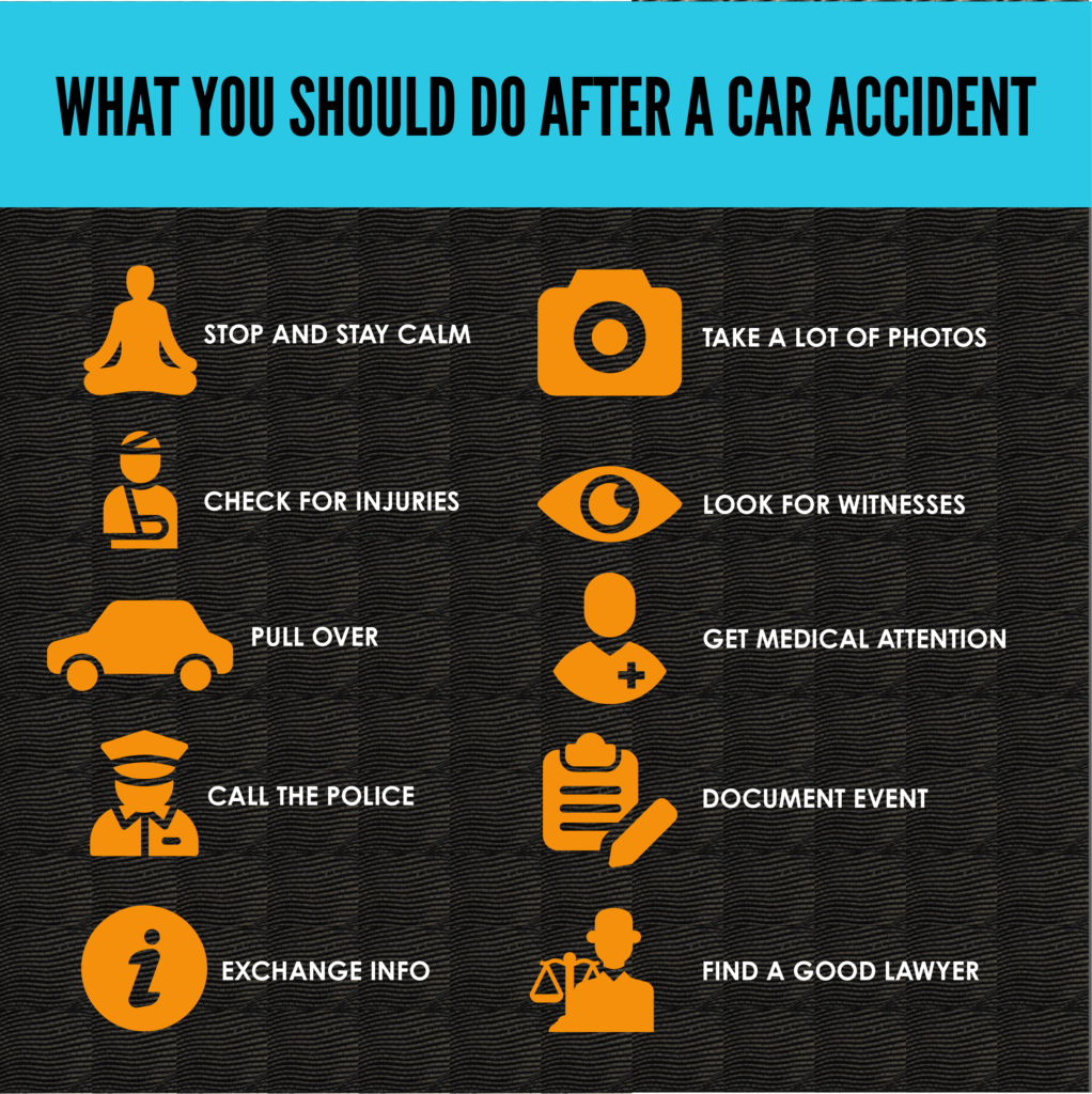 what you should do after a car accident inforgraphic
